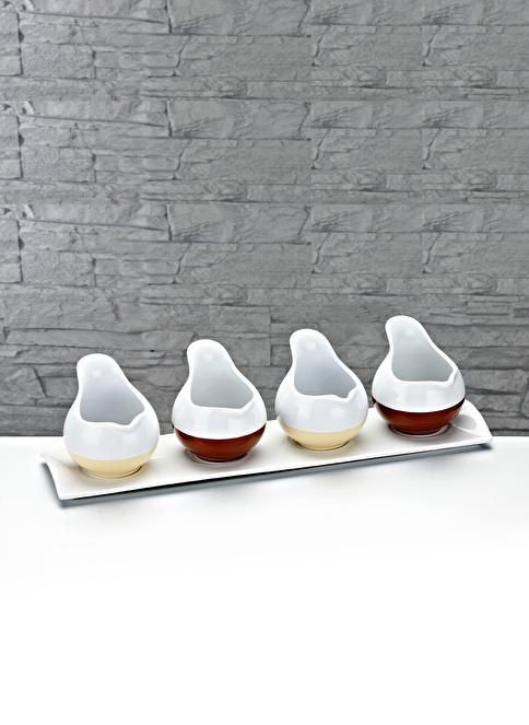 Fidex Home Porselen 4Lü Sosluk  Renksiz
